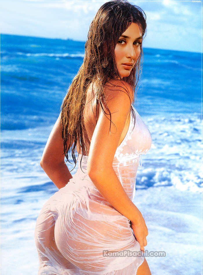 Kareena Kapoor Porn showing her White Ass on Beach